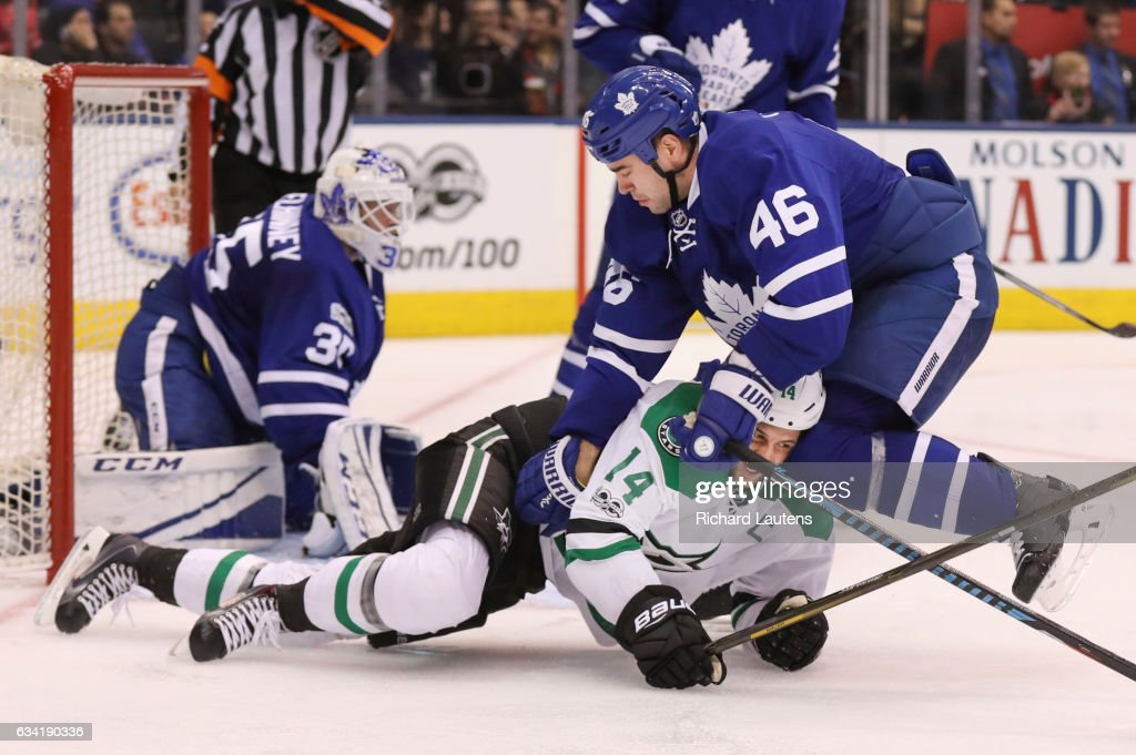 The Toronto Maple Leafs took on the Dallas Stars at the Air Canada Centre : News Photo
