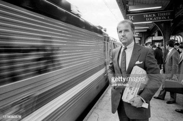In September of 1988, then Senator Joe Biden seen on the platform in Wilmington, Delaware. He was returning to work in the Senate having suffered an...
