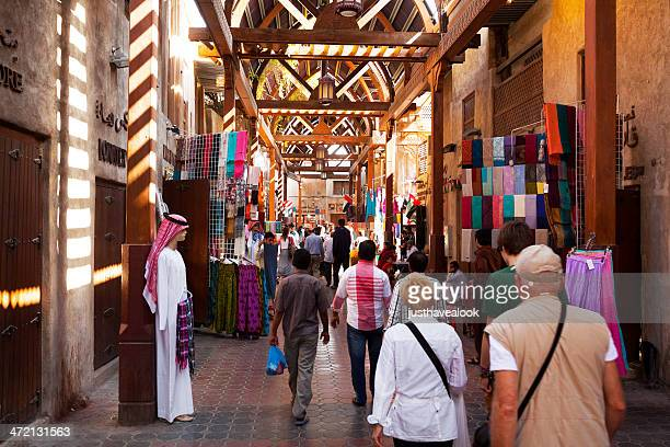 in souks of dubai - souk stock pictures, royalty-free photos & images