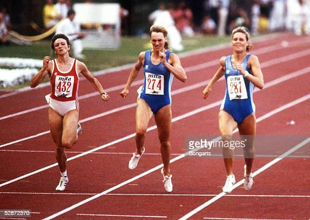 EM 1990 in Split Heike DRECHSLER/DDR Katrin KRABBE/DDR