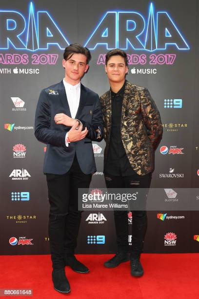 In Stereo arrives for the 31st Annual ARIA Awards 2017 at The Star on November 28 2017 in Sydney Australia