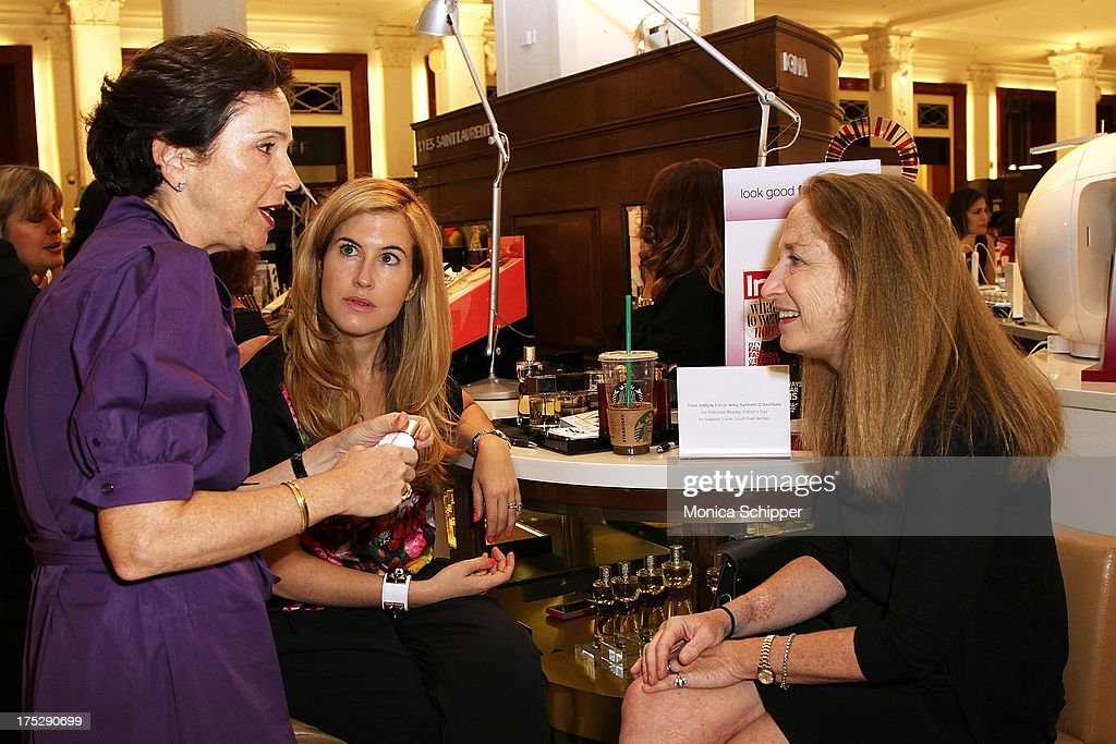 In Style executive editor, Amy Synnott-D'Annibale, attends Second Annual Beauty Editors Day At Saks Fifth Avenue on August 1, 2013 in New York City.