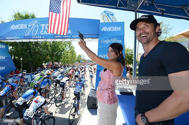 In support of Breakaway from Cancer actor Patrick Dempsey and Murrieta cancer survivor Karen Cannella start Stage 2 of the 2013 Amgen Tour of...