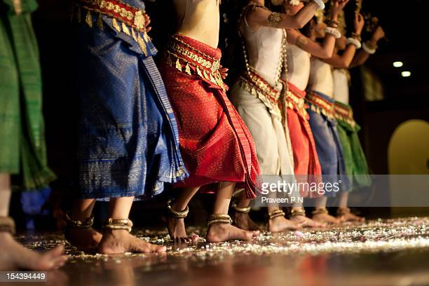 in sync - apsaras dancing - apsara stock photos and pictures