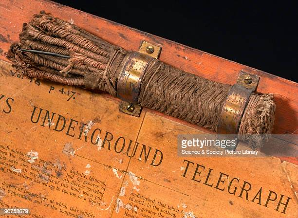 In the 1870s an American, David Brooks, developed a method of insulating copper telegraph wires with manilla hemp strands, laid underground in a pipe...