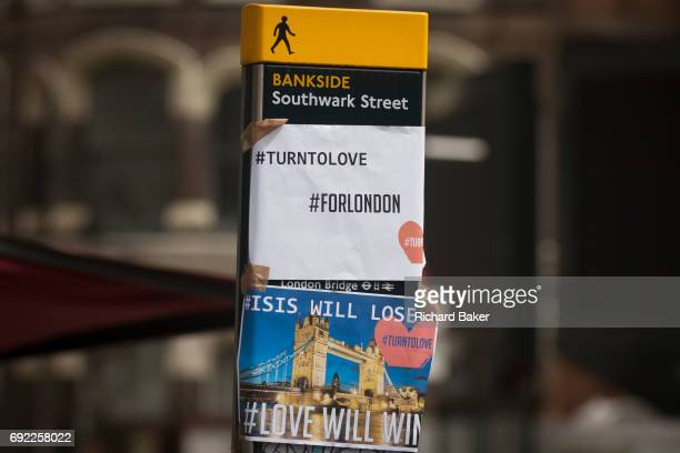 In the aftermath of the London Bridge and Borough Market terrorist attack the previous night the hashtags #turntolove and #forlondon appears a half a...