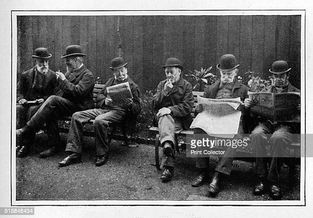 In the airing yard St Marylebone Workhouse Luxborough Street London circa 1901 The St Marylebone Workhouse airing yards provided segregated outdoor...