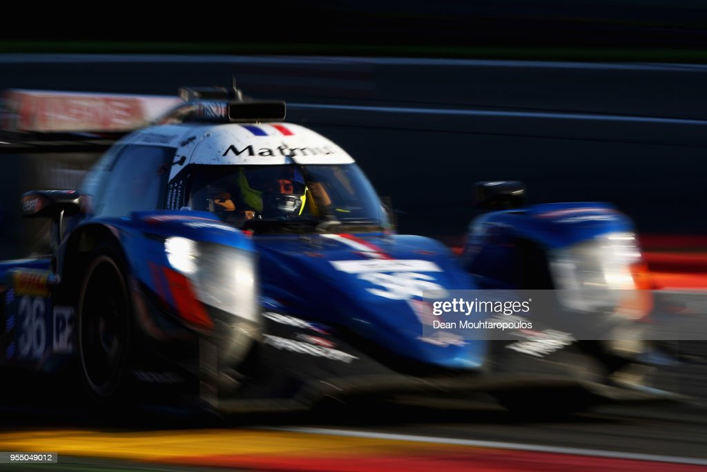 MATMUT in the Alpine A470 - Gibson driven by Nicolas Lapierre of France, Andre Negrao of Brazil and Pierre Thiriet of France competes in the WEC 6 Hours Of Spa-Francorchamps Race at Circuit de Spa-Francorchamps on May 5, 2018 in Spa, Belgium.