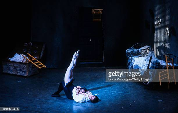 In the American Ballet Theater's production of 'Carmen' , American dancer Patrick Bissell and French dancer Magali Messac perform at the Metropolitan...