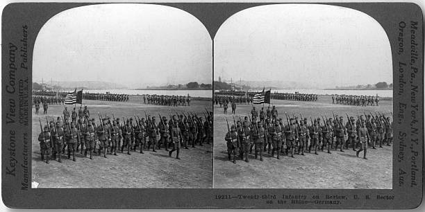 Twenty-Third Infantry On Review