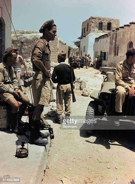 In the Arab village of Kakoun Haganah troops await word about their next move
