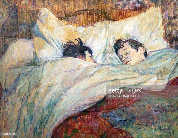 In the bed by Henri de Toulouse Lautrec oil painting 54x70 cm Paris Musée D'Orsay