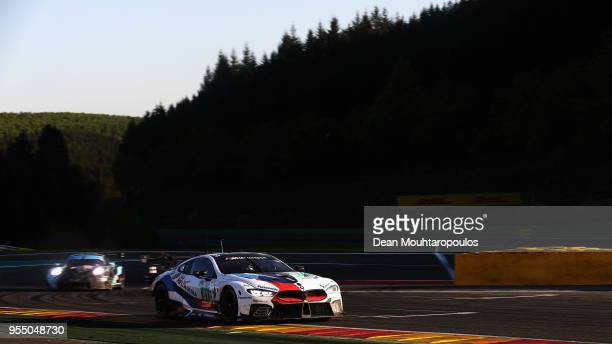In the BMW M8 GTE driven by Martin Tomczyk of Germany, Nicky Catsburg of the Netherlands competes in the WEC 6 Hours Of Spa-Francorchamps Race at...