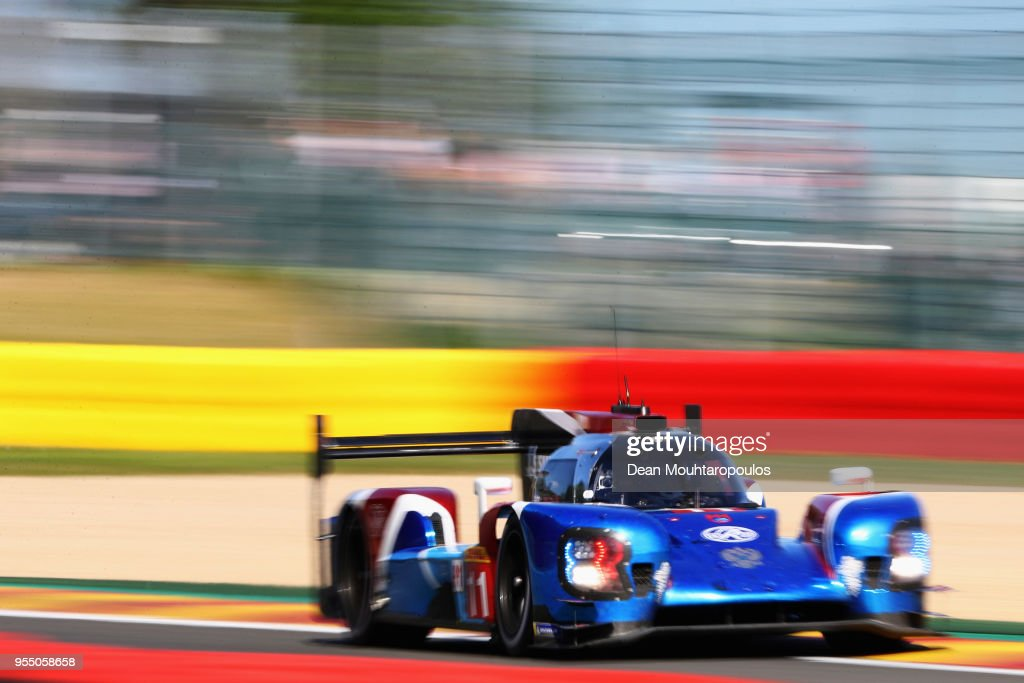 RACING in the BR Engineering BR1 - AER driven by Mikhail Aleshin of Russia, Vitaly Petrov of Russia competes in the WEC 6 Hours Of Spa-Francorchamps Race at Circuit de Spa-Francorchamps on May 5, 2018 in Spa, Belgium.