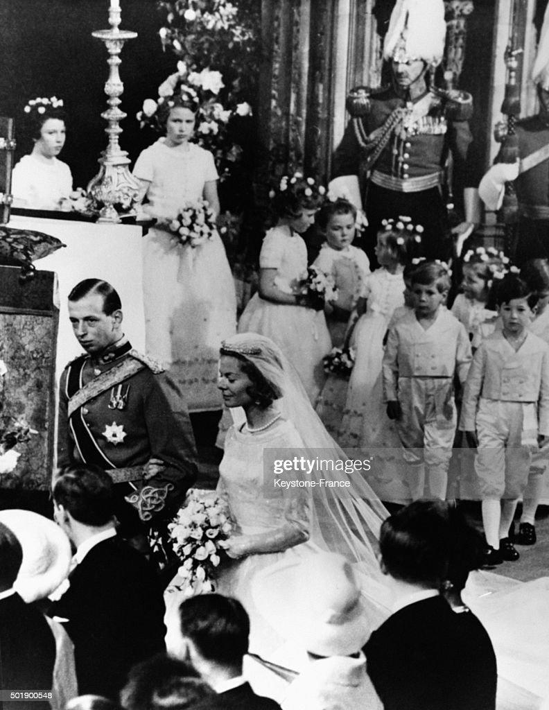 Wedding Of Duke Of Kent With Katharine Worsley At York Minster : News Photo