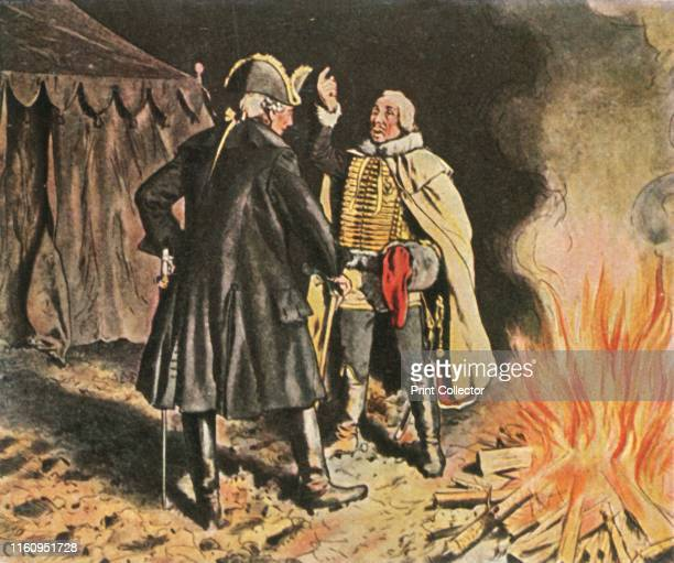 In the Bunzelwitz camp September 1761 'Im Lager Von Bunzelwitz September 1761' King Frederick the Great of Prussia and General von Zieten in the...