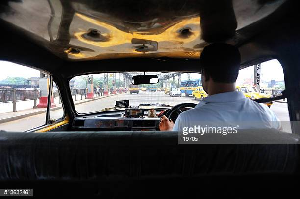 in the cab