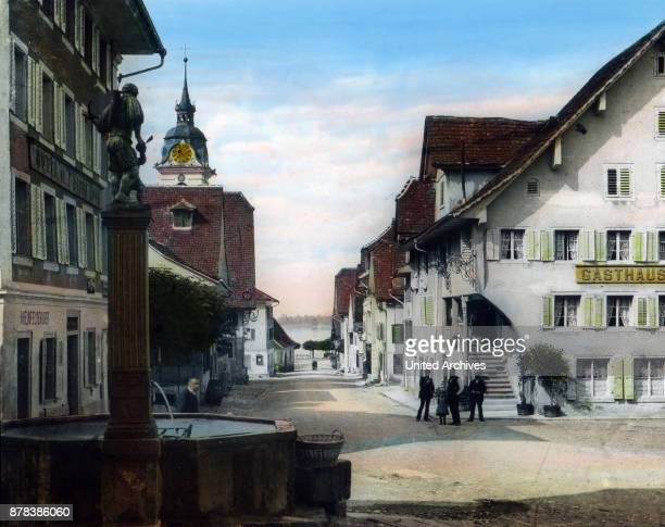 In the centre of Kuessnacht at canton Schwyz Switzerland ca 1910s