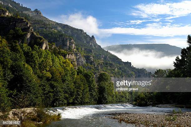 In the Cevennes region the St Enimie village sits along the banks of the Tarn River