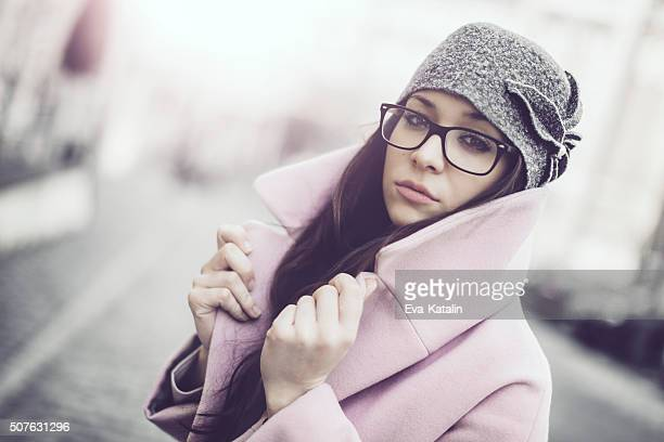 in the city - winter coat stock pictures, royalty-free photos & images