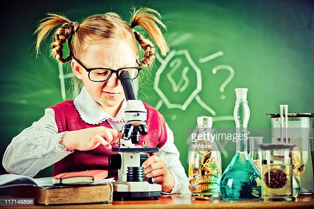 in the classroom - girl nerd hairstyles stock photos and pictures