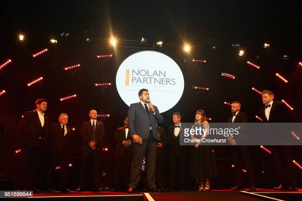 QPR QPR in the Community Trust recieve the Leadership in Sport Award in association with Nolan Partners during the BT Sport Industry Awards 2018 at...