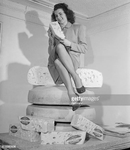 In the considered opinion of photo editors this is a cheesecake picture to end all cheesecake pictures Juliet Hamrin of Monroe Wisconsin poses in the...