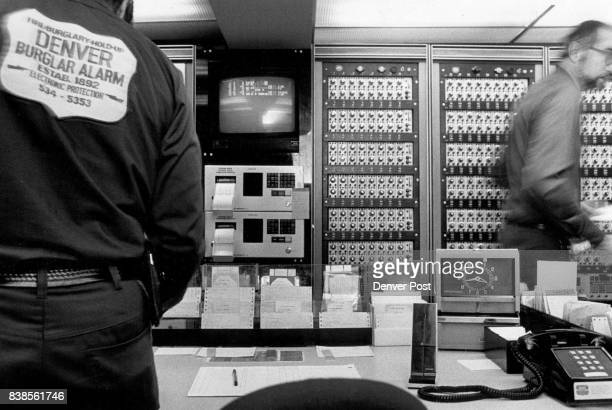 In the control center of Denver Burglar Alarm banks of circutry and computers moniter every business and residence Company officials attribute the...