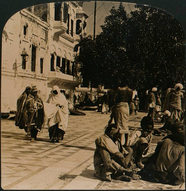 In the courtyard of the Golden Temple Amritsar India` 1907 [H C White Co Chicago New York London 1907] Artist Unknown