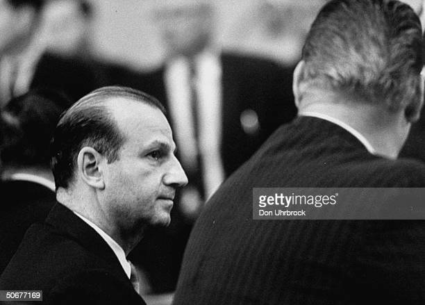 In the Dallas courtroom Jack Ruby listening to his verdict of guilty