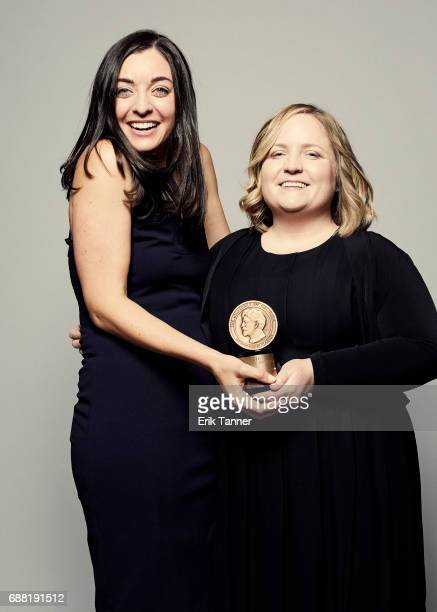 In the Dark team Samara Freemark and Madeleine Baran are photographed at the 76th Annual Peabody Awards at Cipriani Wall Street on May 20 2017 in New...