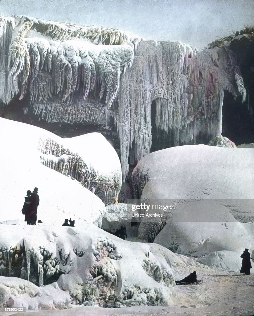 In the depths of winter, Niagara Falls is a large accumulation of ice.