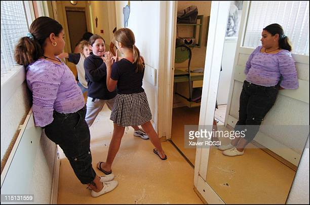 Obese teenagers get a second chance in Sanary Sur Mer France in May 2004 May 2004 In the dorm of the younger girl Ambrine Cassandra Alicia and Oceane