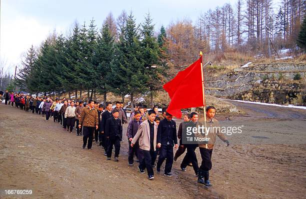 In the DPRK patriotic and politicial trainings and events are very common and usual in daily life of the people. Here a group of young student are on...