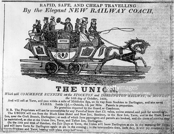 In the early days passengers on the Stockton Darlington Railway were carried in horsedrawn coaches The Union started operating in October 1826 This...
