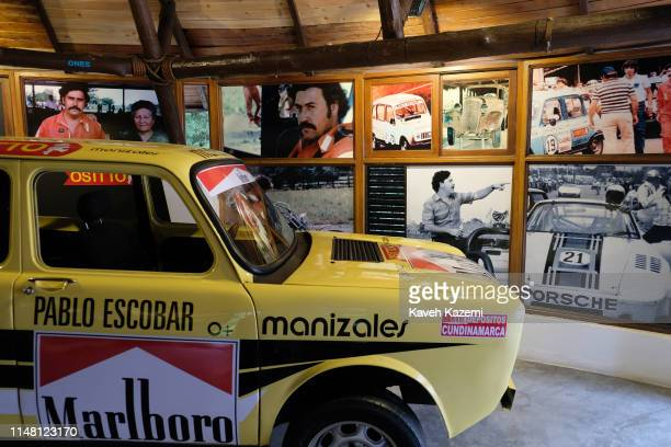 In the family museum of Pablo Escobar run by Roberto Escobar his eldest brother also known as The Accountant an old racing car which was his favorite...