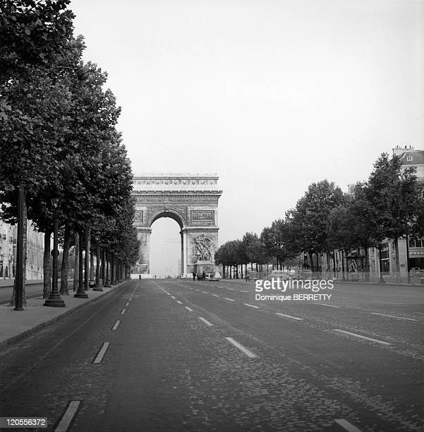 In The Fifties In Paris France The ChampsElysees and the Arc of Triumph