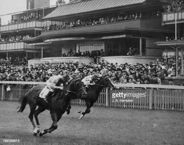 In the first race at Royal Ascot Royal Charger ridden by jockey E Smith wins the Queen Anne Stakes Ascot Racecourse Berkshire 18th June 1946 Langton...