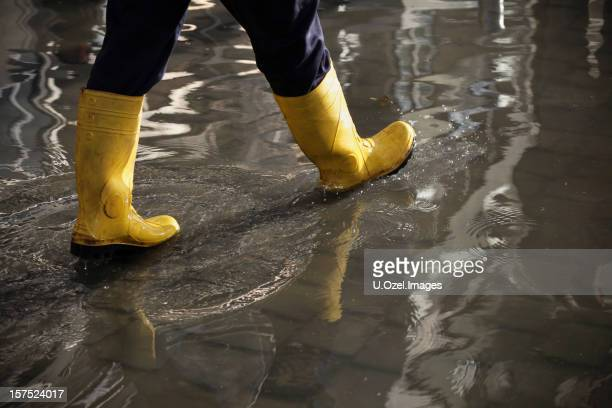 in the flood water - flooding stock photos and pictures