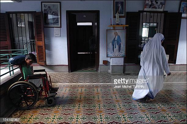 In the footsteps of Mother Teresa In Calcutta India In September 2003 Daya Dan home for handicapped children