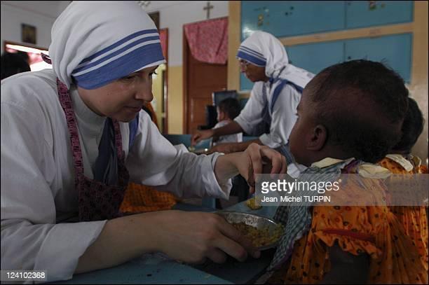 In the footsteps of Mother Teresa In Calcutta India In September 2003 Shishu Bhavan Children' home