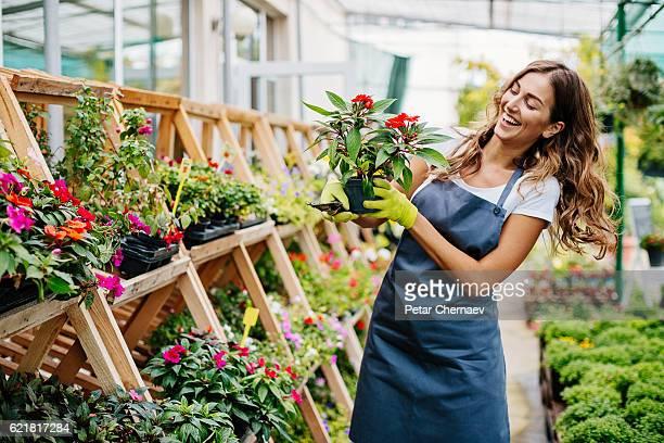 In the garden center