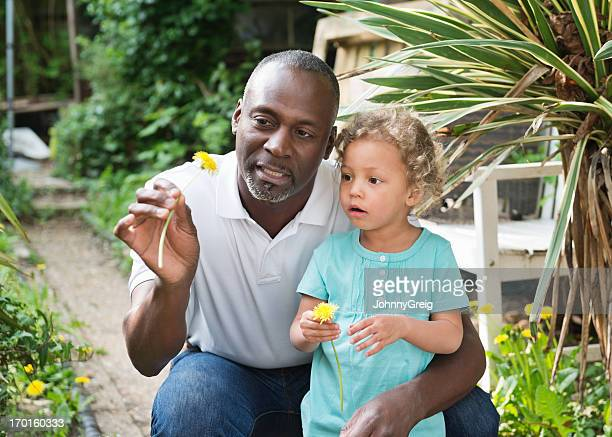 In the garden with Granddad