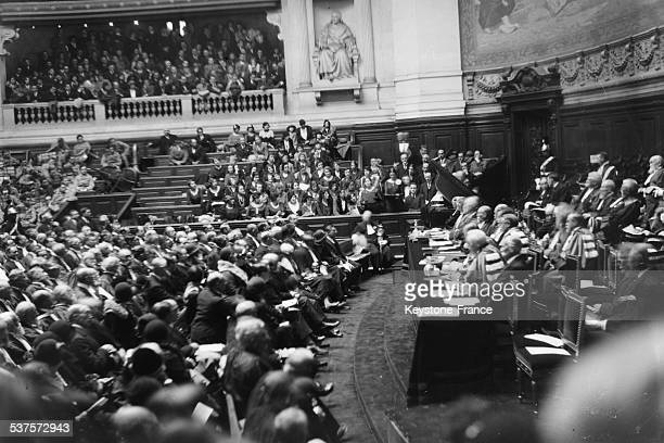 In the Great Amphitheater of the Sorbonne Doctor Diplomas 'Honoris Causa' were given to four eminent foreign scholars on November 7 1931 in Paris...