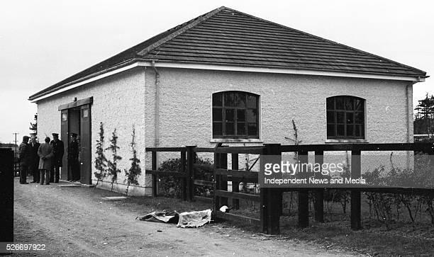 In the grounds of Ballymany Stud Farm Newbridge County Kildare where the horse Shergar was taken from Shergar's box 283313 Circa February 1983