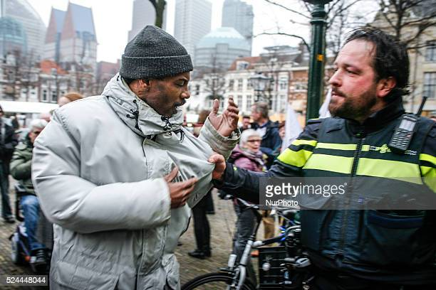 In The Hague on Thursday February 12 2015 some 80 people joined an initiative by the Dutch environmental defence group Milieudefensie to demonstrate...