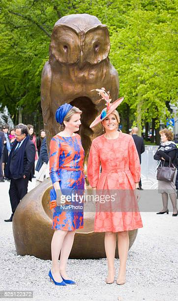 In The Hague on Wednesday May 20th 2015 queen Maxima of the Netherlands and queen Mathilde of Belgium opened the Den Haag Cultuur outdoor exhibition...