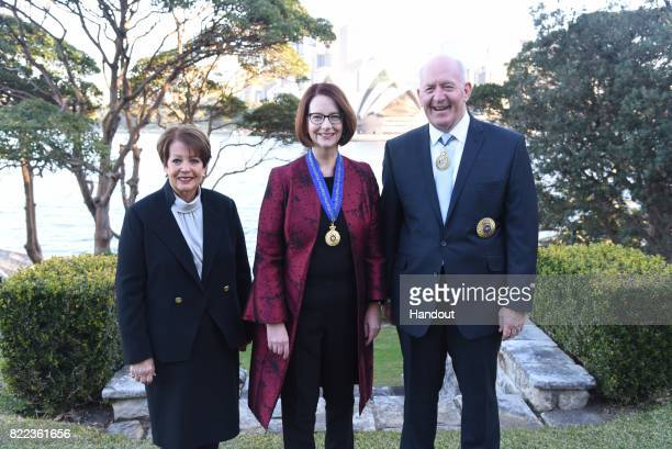 In the handout provided by Government House Sydney former Australian Prime Minister Julia Gillard and GovernorGeneral of Australia Sir Peter Cosgrove...