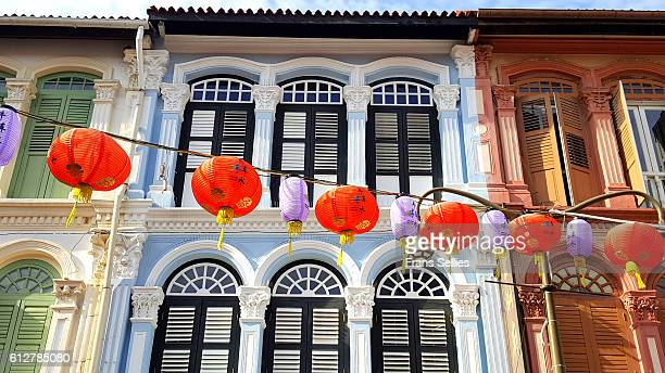 in the heart of chinatown, singapore - chinatown stock pictures, royalty-free photos & images