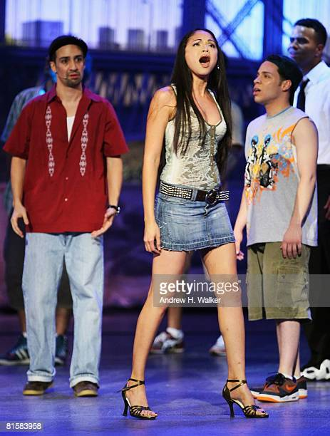 'In the Heights' Creator LinManuel Miranda and cast perform onstage during the 62nd Annual Tony Awards held at Radio City Music Hall on June 15 2008...